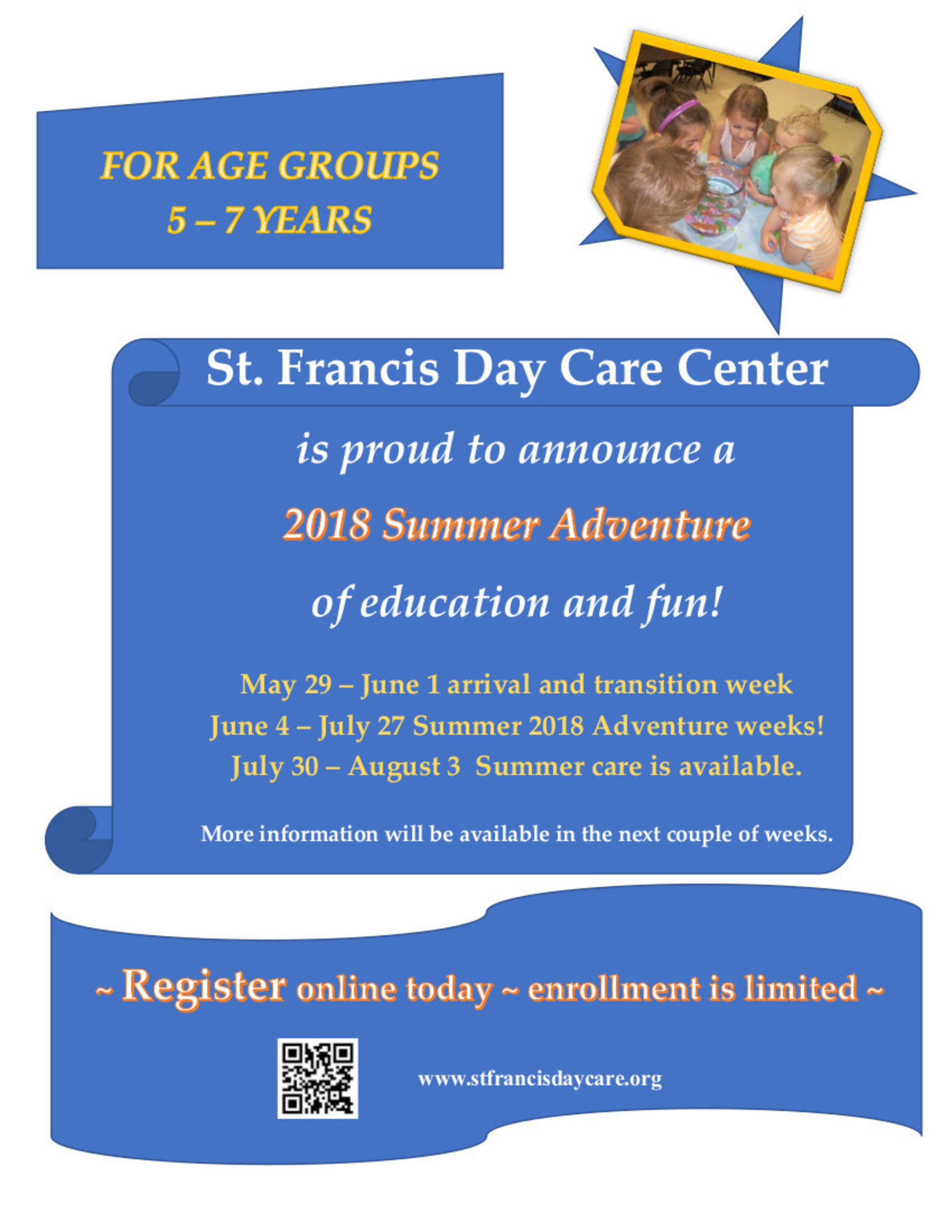 Summer Adventure of Fun 2018 Announcement | St  Francis Day